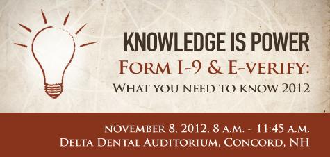 11.8.12 Form I-9 Seminar