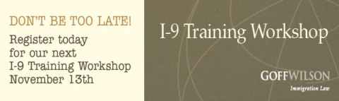 Register for I-9 Training Workshop