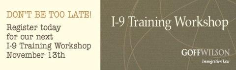 Register for I-9 Training Workshop