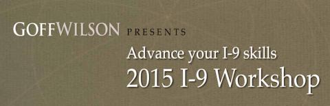 2015 I-9 Workshop